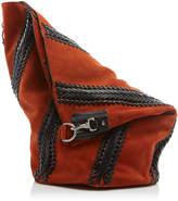Proenza Schouler Hex Leather-Trimmed Suede Bucket Bag