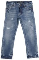 Dolce & Gabbana Destroyed Stretch Cotton Denim Jeans
