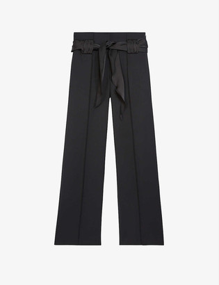 The Kooples High-rise flared wool trousers