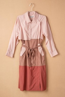 Teoh and Lea - Colour Block Trench Jacket - S