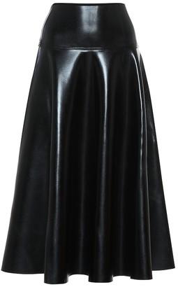 Norma Kamali Faux leather midi skirt