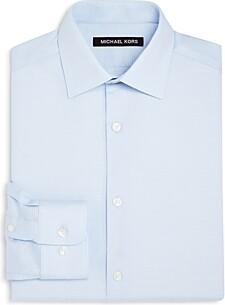 Michael Kors Boys' Tonal Striped Dress Shirt - Big Kid