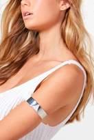boohoo Rosie Glitter Triangle Arm Cuff silver