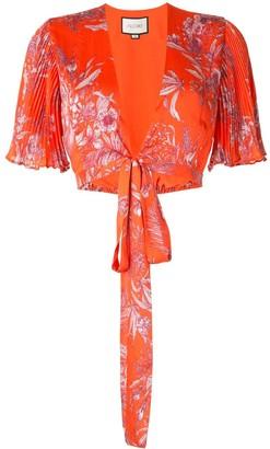 Alexis Rylie floral tie blouse