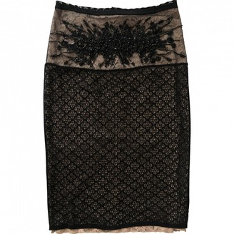 N°21 N21 Black Cotton - elasthane Skirt for Women
