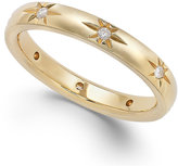 Marchesa Star by Diamond Star Wedding Band in 18k Gold (1/8 ct. t.w.)