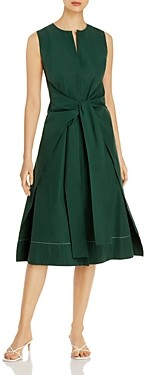 Narciso Rodriguez Knot-Front Fit & Flare Dress