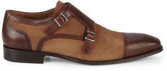 Mezlan Double-Buckle Monk-Strap Shoes