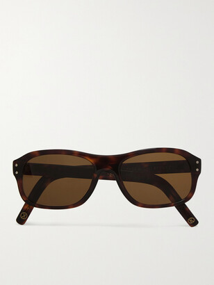 Kingsman + Cutler And Gross Square-Frame Tortoiseshell Acetate Sunglasses