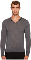 The Kooples V-Neck Pullover with Piping Men's Sweater