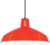"Warehouse Satco Lighting 1 Light 16"" Pendant Shade, Red"