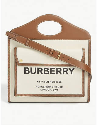 Burberry Logo two-tone canvas tote