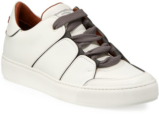 Ermenegildo Zegna Tiziano Men's Leather Low-Top Sneakers