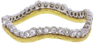 Cathy Waterman Branch And Scallop Stacking Yellow Gold Band Ring