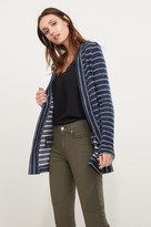Dynamite Striped Open Cardigan