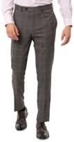 Tallia Men's Slim-Fit Stretch Gray Windowpane Suit Separate Pants