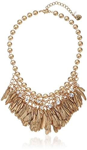 Betsey Johnson Angels & Wings Feather & Bib Necklace