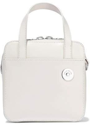 Kara Void Brick Glossed-leather Shoulder Bag