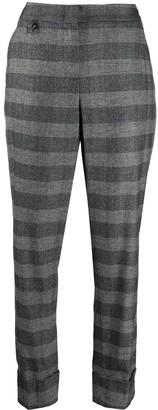 Lorena Antoniazzi Fine Knit Check Patterned Trousers