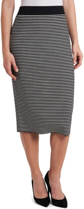 Vince Camuto Mini Stripe Pull-On Skirt