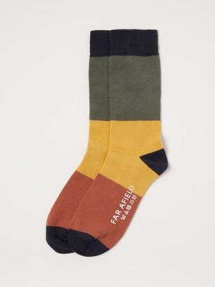 Far Afield Multi-Color Block Crew Socks