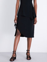 Rosetta Getty Spiral stretch-crepe skirt