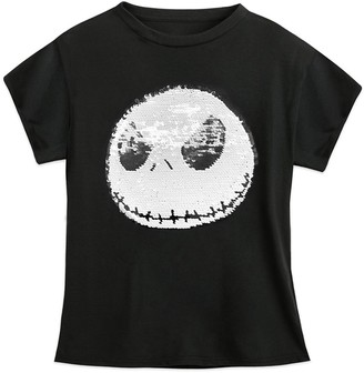 Disney Jack Skellington Reversible Sequin T-Shirt for Kids The Nightmare Before Christmas