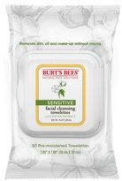 Burt's Bees Facial Cleansing Towelettes - Sensitive, 30 count