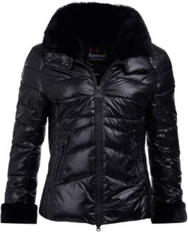 Barbour International - Hyde Black Quilted Jacket - 12 | black - Black/Black