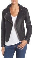 Mackage Funnel Neck Leather Jacket