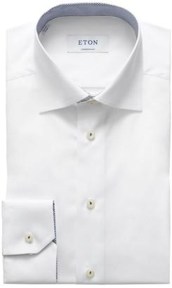 Eton Contrast Contemporary-Fit Cotton Dress Shirt