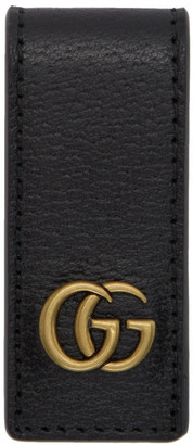 Gucci Black Leather GG Money Clip