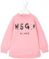 MSGM logo sweatshirt - kids - Cotton/Spandex/Elastane - 9 mth