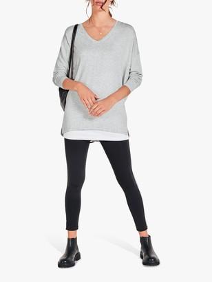 Hush Side Stripe Leggings, Black/Silver