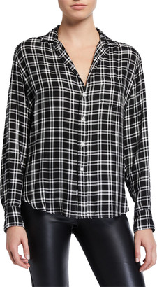 Frank And Eileen Long-Sleeve Check Button-Down Top