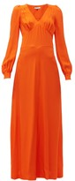 Bella Freud Nova Balloon-sleeve Crepe Dress - Womens - Orange
