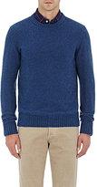 Isaia Men's Crewneck Sweater-BLUE