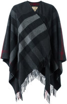 Burberry fringed knitted poncho - women - Cashmere/Merino - One Size
