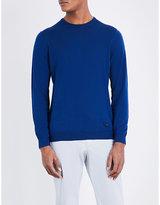 Armani Collezioni Crewneck Knitted Cotton Jumper