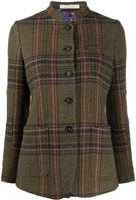 Massimo Alba Tartan Print Jacket