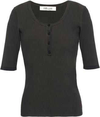 Diane von Furstenberg Ribbed-knit Top
