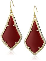 Kendra Scott Gold and Bright Red Alex Drop Earrings