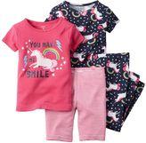 Carter's Girls 4-8 4-pc. Unicorn Pajama Set