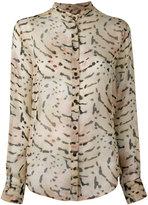 Tom Ford printed band collar shirt - women - Silk - 44