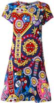 Love Moschino multiple print flared dress - women - Cotton/Spandex/Elastane - 40