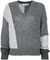 McQ patchwork knit top
