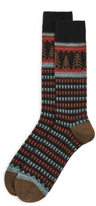 Paul Smith Men Perry Fair Isle Crew Socks