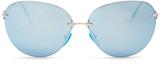 Christopher Kane Mirrored D-frame sunglasses