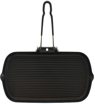 Chasseur Folding Handle Cast Iron Grill Pan - Black - 15""
