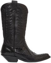 Sonora 40mm Python & Leather Cowboy Boots